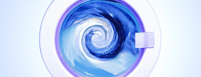 Acqua ozonizzata per il lavaggio del bucato