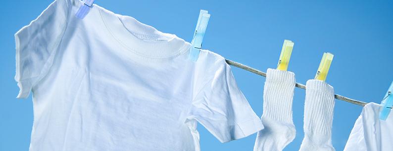 panni puliti grazie alla sanificazione con ozono