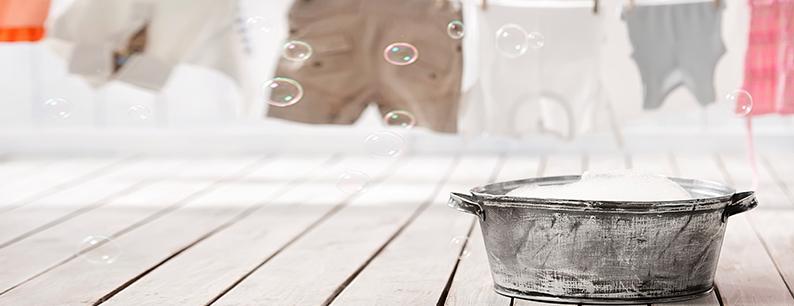 Disinfettare il bucato di casa