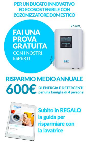 ozonizzatore domestico per lavatrice per un guadagno annuale di 600 euro di detersivi e elettricità
