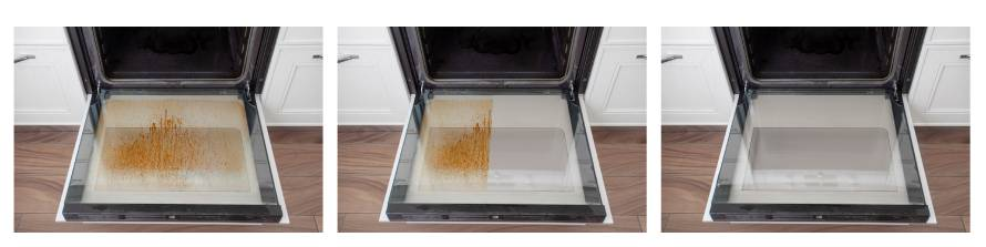pulire il forno con l'acqua ozonizzata