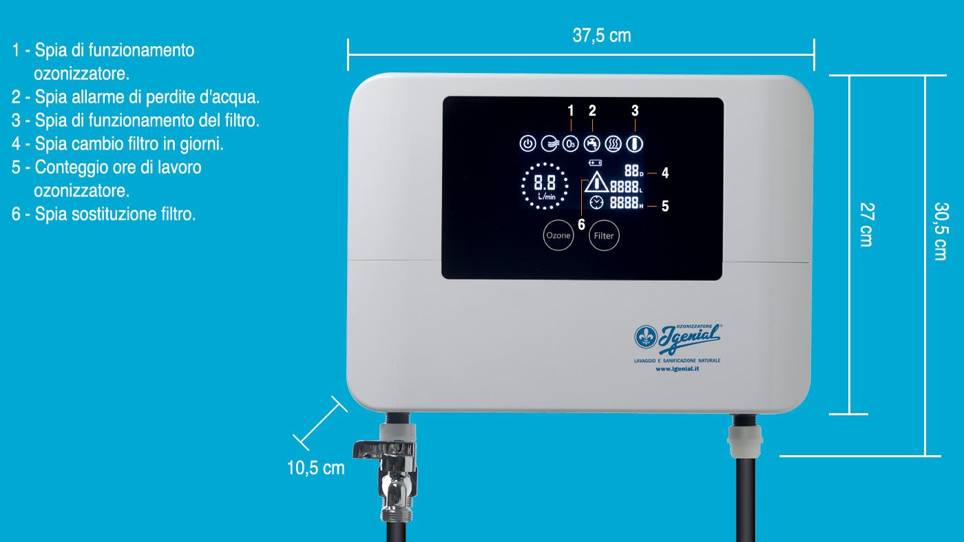 scheda tecnica ozonizzatore domestico per lavatrice Igenial