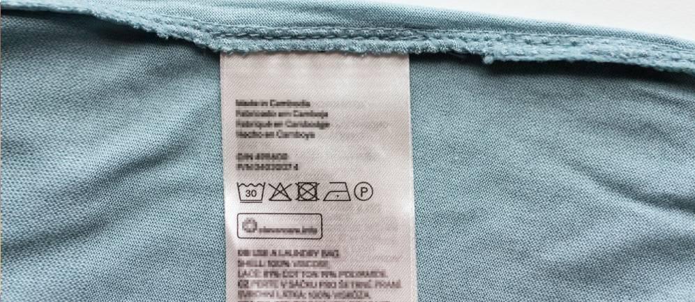 leggere le etichette degli indumenti